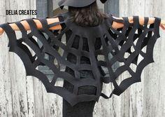 No-Sew Halloween Spiderweb Cape