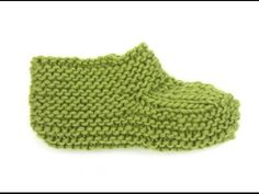 How to knit the foot on the slipper in DROPS 161-40 - YouTube