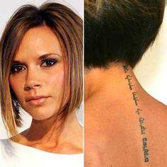tatouage lettres dos