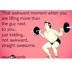 LOL! This seriously happens to me all the time. Especially in the squat rack. #LadyBeast