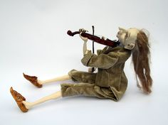 Reserved for Claire ...OOAK Art Doll  Violinist   Art