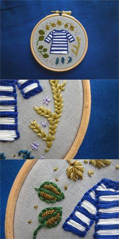 hand embroidery ⎸Summer forrest walk ⎸Heather & Cloud