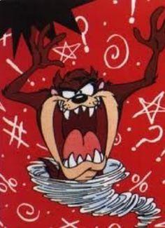 Mischievous Little Devil ツ Taz Looney Tunes Characters, Looney Tunes Cartoons, Taz Tattoo, Devil Tattoo, Yosemite Sam, Tasmanian Devil, Image Fun, Favorite Cartoon Character, Bugs Bunny
