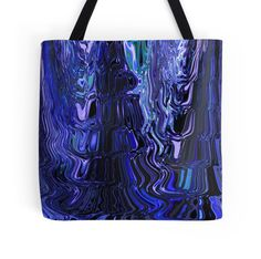 Flowing Shades of Blue Blending with Black Abstract Design Unique Art by Adri Turner (Minding My Visions) Available on Tote Bags, Pillows, Mugs, Prints, Cards and so much more!   https://www.facebook.com/mindingmyvisions  www.mindingmyvisions.com