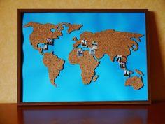 DIY, Reisen, Korkwand, Pinnwand, Travel, Cork, World, Craft