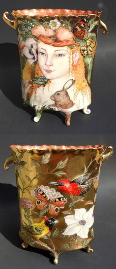"◭ Penchant for Pottery ◮ ""Primavera"" Porcelain vase by Irina Zaytceva"