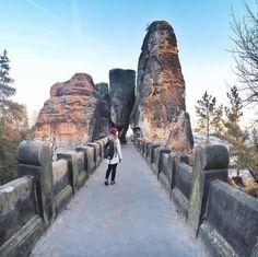 This weekend we took @maladeaventuras on our tour and this is her photo on Bastei bridge  #northernhikes #visitCZ #stayandwander #adventurethatslive #lifeofadvanture #visiteurope  #naturesbeauty #intothewild #neverstopexploring #goexplore #theoutbound #modernoutdoors #thegreatoutdoors #naturelovers #travelstoke #travelingram #forbestravelguide #adventuron #optoutside #hikingadventure #modernhiker #wanderlust #doyoutravel #folkscenery #folkmagazine #wildernessculture #nationalparkgeek…