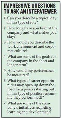 The questions to ask in an informational interview   Interview ...