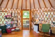 Erin and Nathan's Boho Backyard Dream Office in a Yurt — Small & Stylish House Tour All-Stars