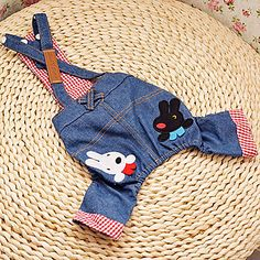 USD $ 14.99 - Lovely Rabbit Pattern Cowboy Suspender Trousers for Dogs (Assorted Color,XS-XL), Free Shipping On All Gadgets!