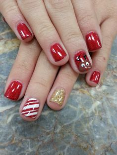 Christmas Shellac Nails