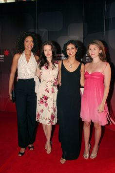 Gina, Summer Morena and Jewel at Edinburgh International Film Festival- August 22, 2005 -- Looking wonderful.