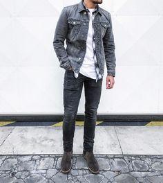 #ootd #ootdmen #street #streetstyle #stylemen #look #style #fashion #fashionista #men #menswear #menstyle #mensstyle #menfashion #mensfashion #simplefits #instafashion #supreme #moda #instadaily #fashionpost #allsaints #denim #denimjacket #greyjacket #greydenim #layers #shirt #chelseaboots #anniehood