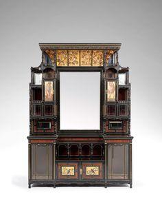 Daniel COTTIER (1837-1891)  BUFFET for    Hobbes London. Haut. 273 cm (107,48 in.) - long. 198 cm (77,95 in.) - prof. 54 cm (21,25 in.)