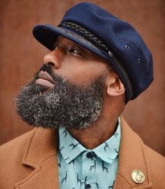A healthy appreciation for the Bearded Community and it's majestic beards. Edited photos from around cyber-space. Black Men Beards, Handsome Black Men, Black Man, Long Beard Styles, Hair And Beard Styles, Beard Game, Big Beard, Moustache, Beard Hair Growth