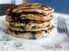 Blueberry Lemon Quinoa Pancakes by ambitiouskitchen.com