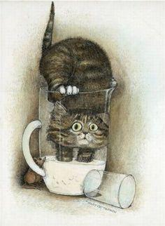 Gary Patterson Art | Gary Patterson | cat art