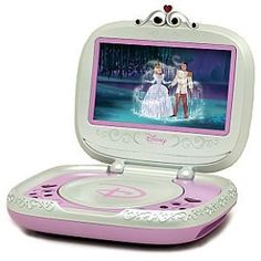 Portable Disney Princess DVD Player -- 7'' by Disney. $152.99. Rechargeable polymar battery  . Built-in stereo speakers . 7'' 16:9 TFT screen . Resolution: 480 x 234 pixels . 2 hours approximate play time . Perfect for the young royal on the go, our Portable Disney Princess DVD Player makes it easy to bring her favorite movies along wherever she travels in the kingdom. Princess-friendly features include a rechargeable battery, remote control and built-in stereo speaker...