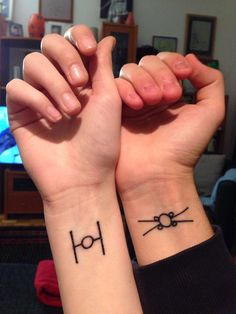 His and Hers Star Wars tats
