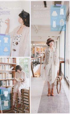 Mori girl style. From Japan fashion magazine - papier