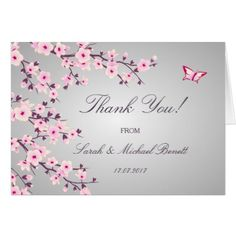 #wedding #thankyoucards - #Cherry Blossoms Floral Wedding Thank You Card