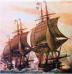 French Ships of the Line, off Chesapeake, 1781  http://hallnjean.files.wordpress.com/2010/05/french-ships-of-the-line.gif