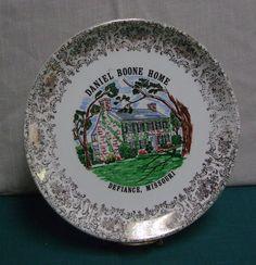 Daniel Boone Home Souvenir Plate Defiance Missouri by trudysattic