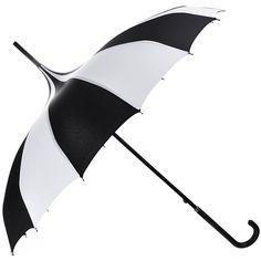 OUTGEEK Umbrella Retro Pagoda Umbrella Parasol Umbrella Sun Umbrella... (26 AUD) ❤ liked on Polyvore featuring accessories, umbrellas, retro umbrella, black and white umbrella and uv protection umbrella