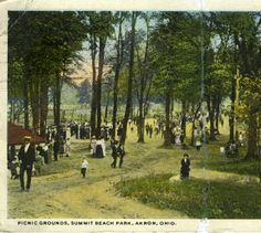Picnic Grounds, Summit Beach Park, Akron, Ohio :: General Photograph Collection of the Akron-Summit County Public Library
