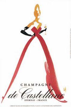 Tenue de bal - Michel Canetti pour Champagne de Castellane