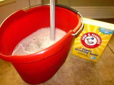 ONLY use this and it leaves floor spotless. (Heavy - ONLY use this and it leaves floor spotless. (Heavy duty floor cleaner recipe:  cup white vinegar 1 tablespoon liquid dish soap  cup baking soda 2 gallons tap water, very warm.) It leaves ev