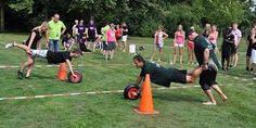 Afbeeldingsresultaat voor zeskamp Team Building Activities, Physical Activities, Activities For Kids, Pe Games, Party Games, Conquistador, Amazing Race Party, Festival Games, Outside Games