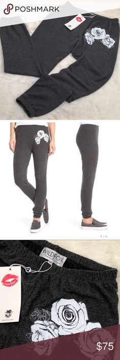 WILDFOX Garden Jogger NWT, Sz XS As one reviewer noted, these soft sweatpants from Wildfox make your booty pop! Approximate measurements taken flat in inches: Waist: 12 Inseam: 27 New Condition: no flaws. Wildfox Pants Track Pants & Joggers
