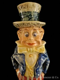 Antique Majolica Palmer Cox Brownie Uncle by EbenezerandCompany