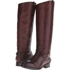 Frye Lindsay Plate (Redwood Smooth Vintage Leather) Women's Boots ($200) ❤ liked on Polyvore featuring shoes, boots, burgundy, knee-high boots, slipon boots, stacked heel boots, burgundy knee high boots, knee high boots and small heel boots