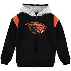 Oregon State Beavers Youth Helmet Full Zip Jacket - Black - $39.99