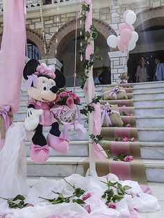 Ballerina Cakes, Baby Shower Decorations, Christening, Minnie Mouse, Bloom, Weddings, Party, Flowers, Fiestas
