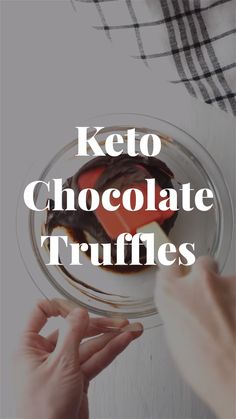 You only need two ingredients to make this fast keto chocolate truffles. When you are on low carb diet and need a healthy dessert fast, try these quick keto chocolate truffles. Like a chocolate fat…More 8 Easy Keto Friendly Chocolate Dessert Ideas Chocolate Fat Bombs, Low Carb Chocolate, Chocolate Truffles, Chocolate Desserts, Chocolate Brownies, Low Carb Candy, Low Carb Desserts, Healthy Desserts, Healthy Food