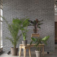 Silver brick wallpaper by NLXL & Piet Hein Eek, in Australia from Removable Wallpaper.com.au