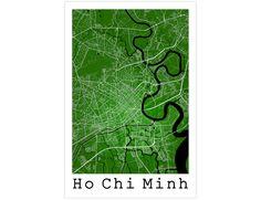 Ho Chi Minh Street Map, Ho Chi Minh Vietnam, Modern Poster