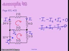 Kirchhoff's Law Part 1 (plus many good examples) Electronic Circuit Projects, Electronic Engineering, Electrical Engineering, Electronics Basics, Electronics Projects, Ohms Law, Fluid Mechanics, Electric Circuit, Electronic Schematics