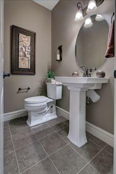 Lovely half bath on the main floor - love the sink! House Plans, Home, Show Home, Flooring, Sink