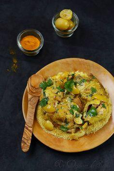 Tagine de poulet citron confits et olives