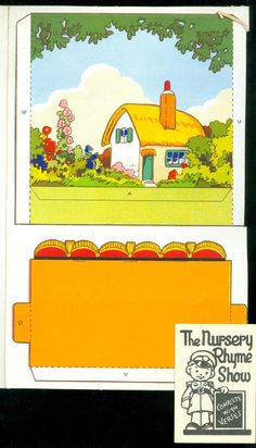 "7""x11"" Uncut Model Theatre Complete w Nursery Rhyme Characters w 7 Scenes C1940   eBay"