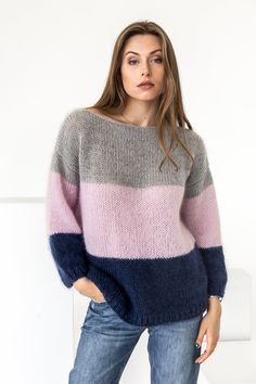 38 Perfect Women Knitwear Outfits Ideas Best For Fall And Winter - Women's attire isn't just fascinating, it is additionally amazingly adaptable. This reality is top-notch when you take a gander at the various instanc. Knitwear Fashion, Knit Fashion, Fashion Fashion, Womens Fashion, Fashion Trends, Womens Knitwear, Street Fashion, Fluffy Sweater, Mohair Sweater