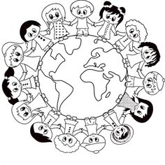 Visual result on April panel decorations - Buch Earth Day Projects, Earth Day Crafts, World Crafts, Harmony Day Activities, Earth Day Activities, Activities For Kids, Doodle Art Drawing, Poster Drawing, Coloring Book Pages