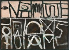 Adolph Gottlieb... I love abstract paintings with weird hieroglyphs... can't explain it!