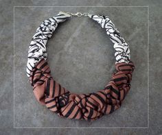 African fabric necklace by KIE MO.