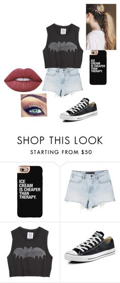 """Untitled #227"" by jazel117 on Polyvore featuring Casetify, Zoe Karssen, Charlotte Russe, Converse and Lime Crime"