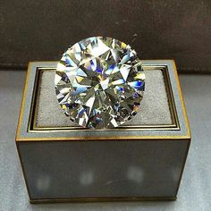 And a 63.63ct round brilliant that would definitely get you, or at least your finger, noticed!! Graff
